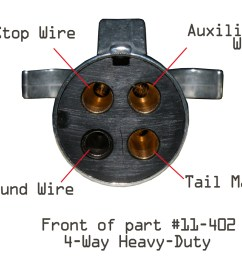 5 way flat plugs part numbers 2309 car end and 2409 trailer end the functions they offer are stop turn tail auxiliary power and ground  [ 1200 x 800 Pixel ]
