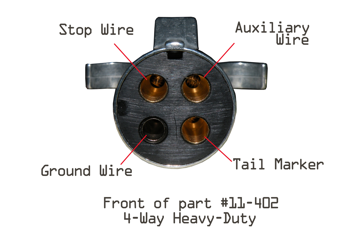 hight resolution of 5 way flat plugs part numbers 2309 car end and 2409 trailer end the functions they offer are stop turn tail auxiliary power and ground