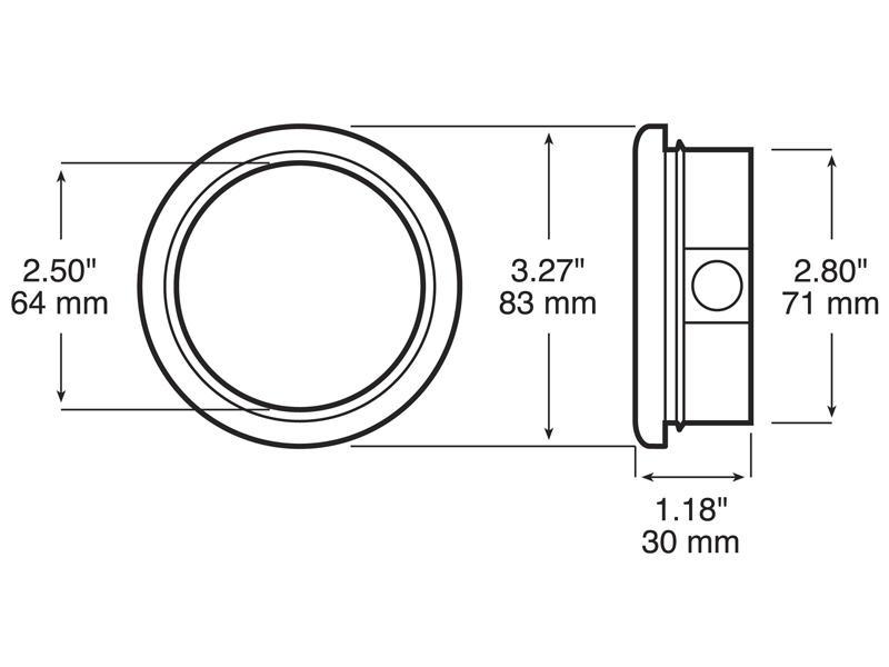 Peterson 143-18 2-1/2 inch Side Marker Light Mounting Grommet