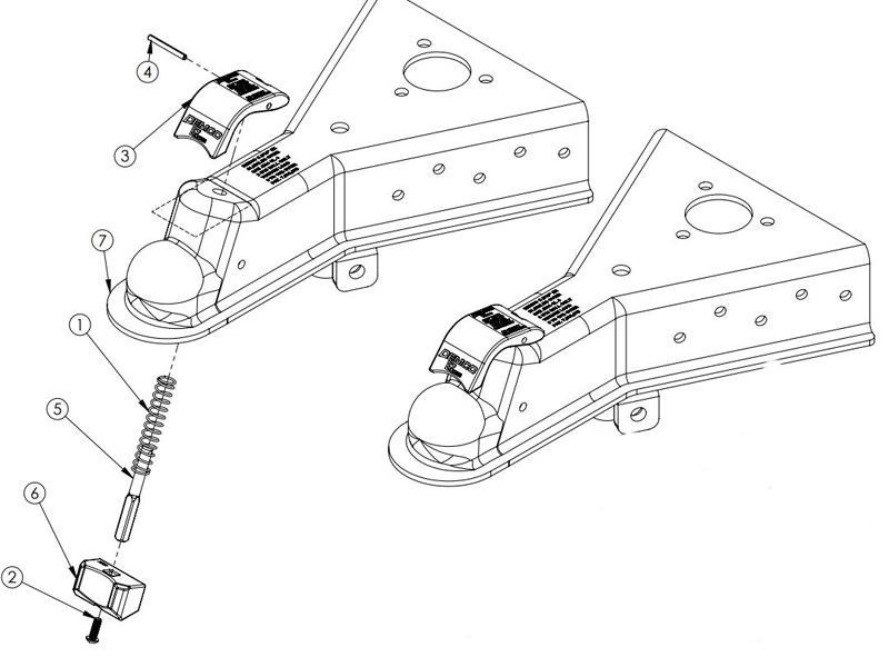 Demco 16680-52 Demco EZ-Latch 2-5/16 Inch A-Frame Coupler