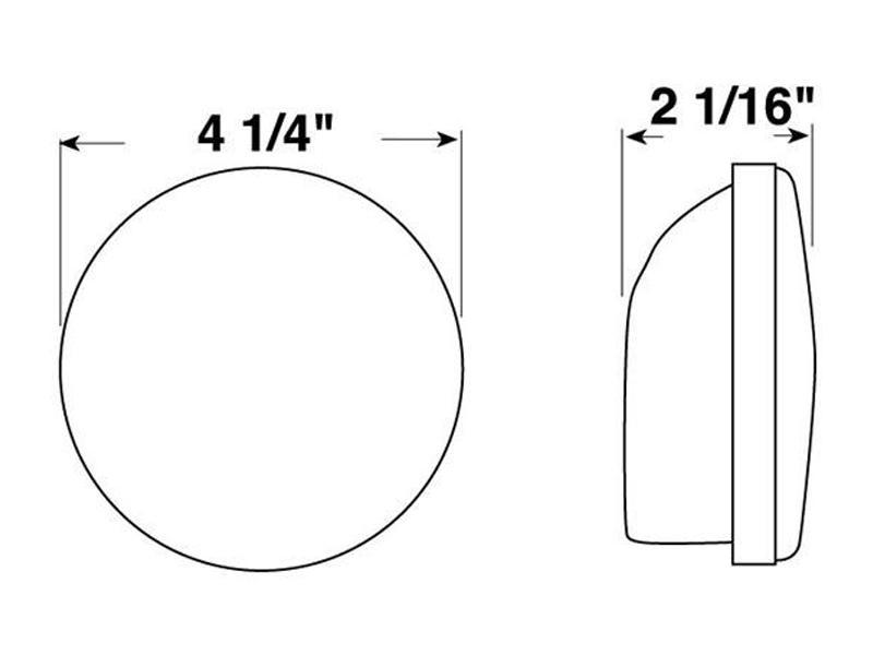 Peterson 415-K 4 inch Round Back-Up Light Kit