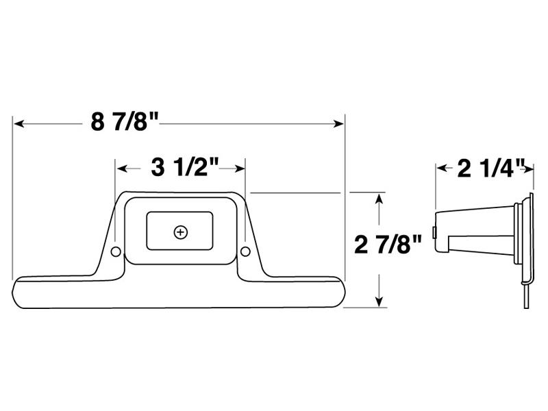 Peterson 436-B License Plate Bracket with Light