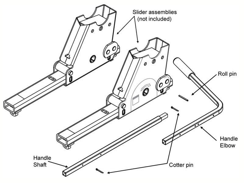 Reese 58161 Replacement Handle Kit for Fifth Wheel Sliders