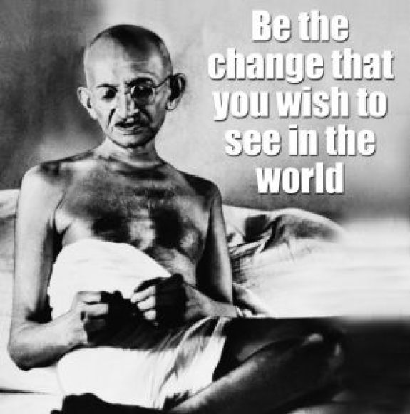 gandhi in simple