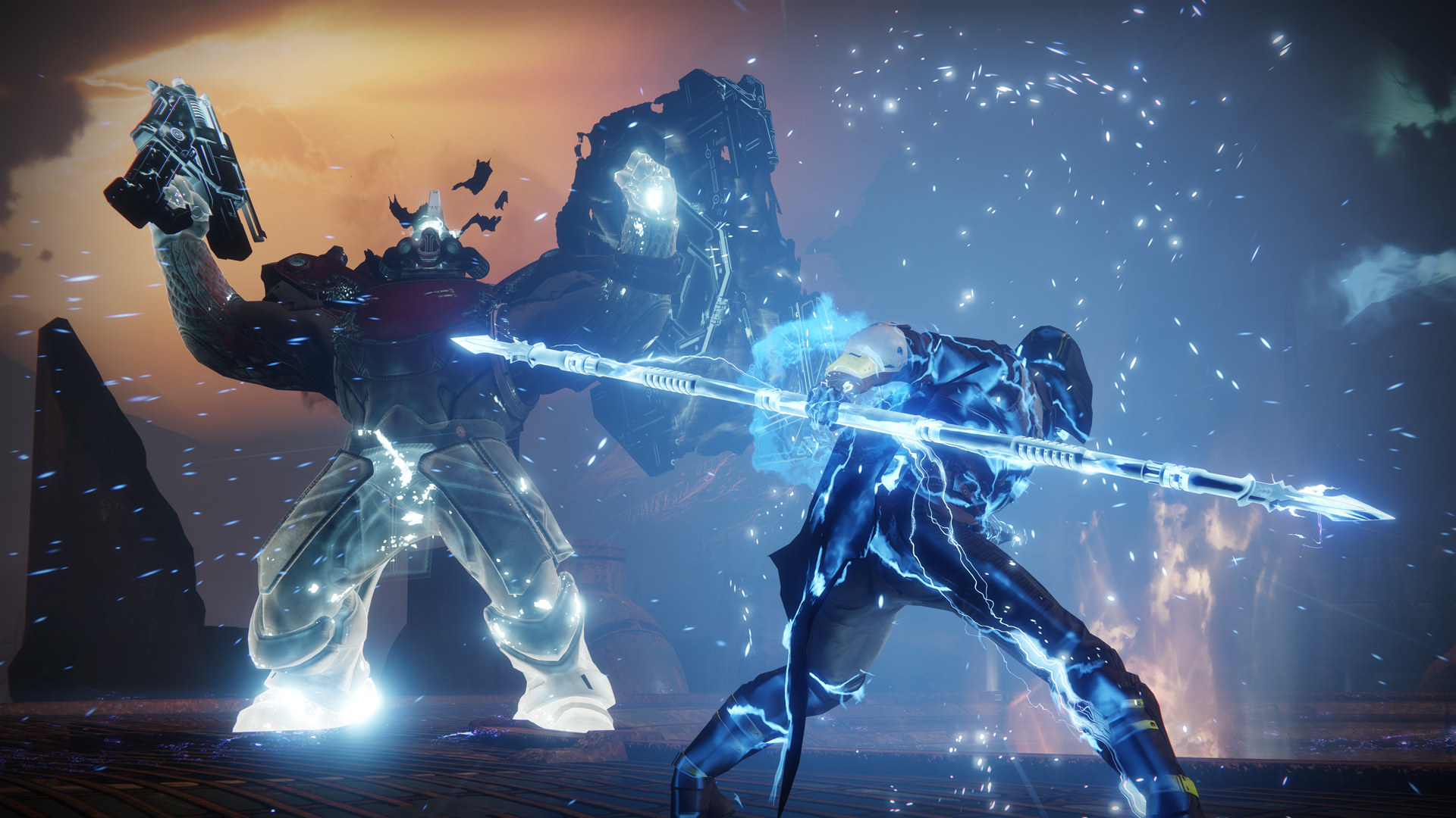 Do not, as this official Destiny 2 screenshot suggests, bring an Arcstrider to Lake of Shadows.