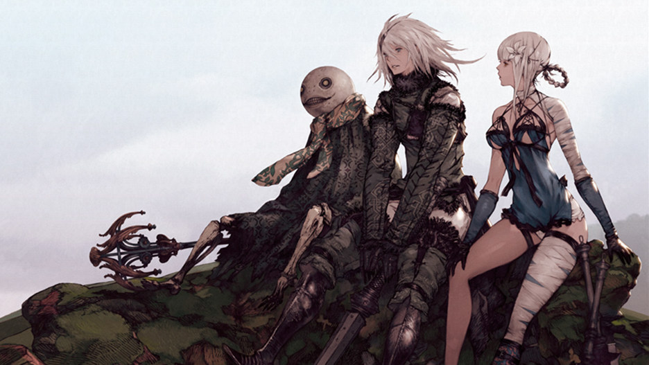 The Nier Replicant ver.1.22474487139... gang hanging out in some art.