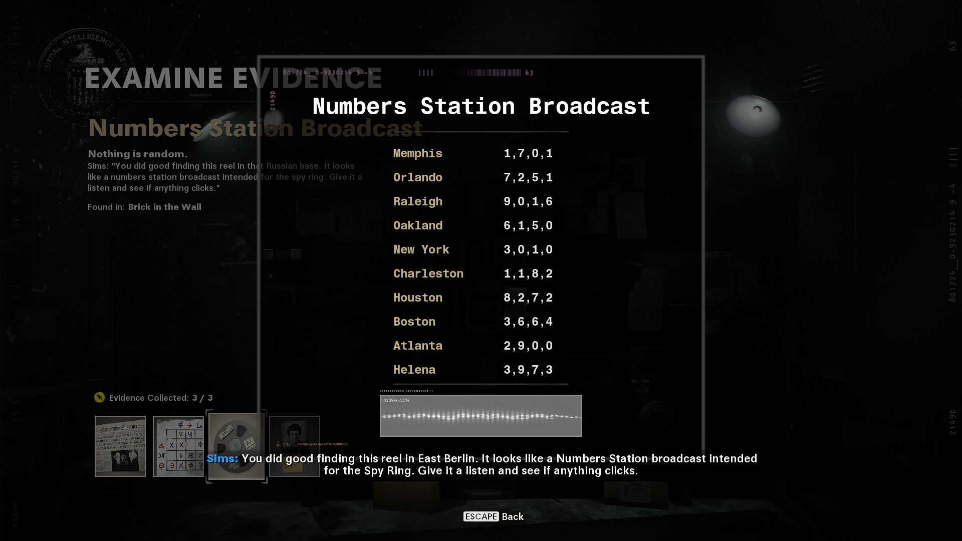 Call of Duty Cold War: all evidence locations and decrypting floppy disk for Operation Chaos   Rock Paper Shotgun