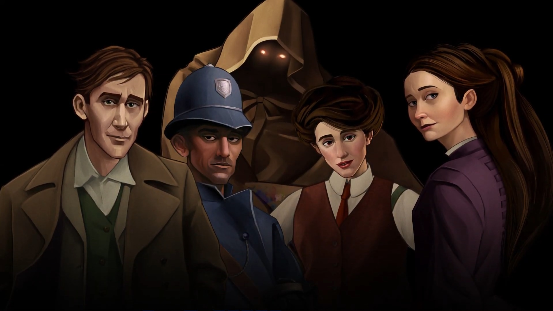 Characters from Failbetter Games' new romantic visual novel, Mask Of The Rose.