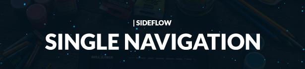 SideFlow Single Portfolio Navigation