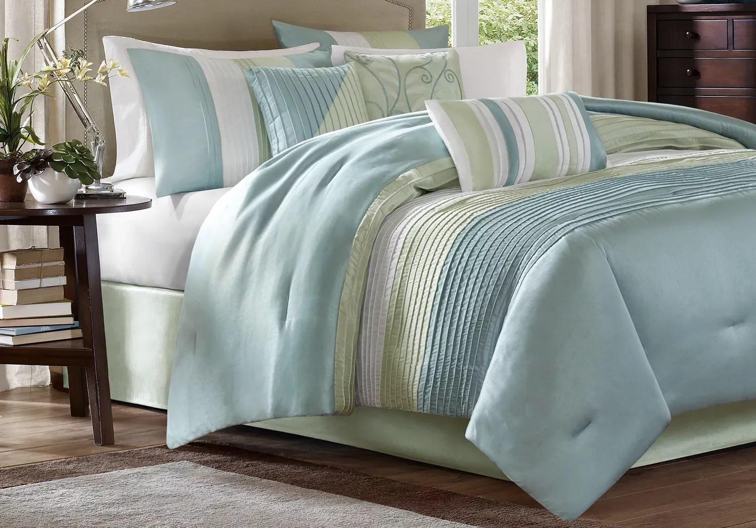 blue queen sized comforters teal