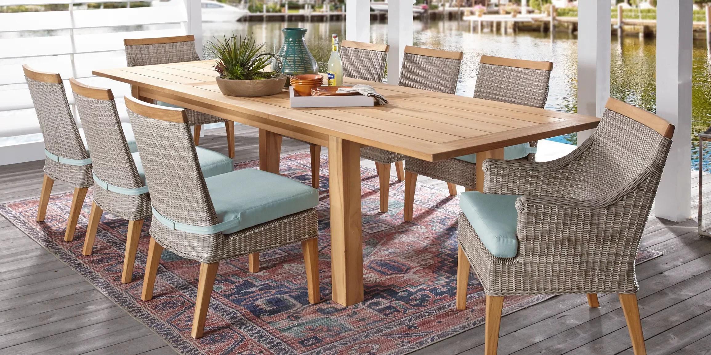 outdoor 9 piece patio dining sets