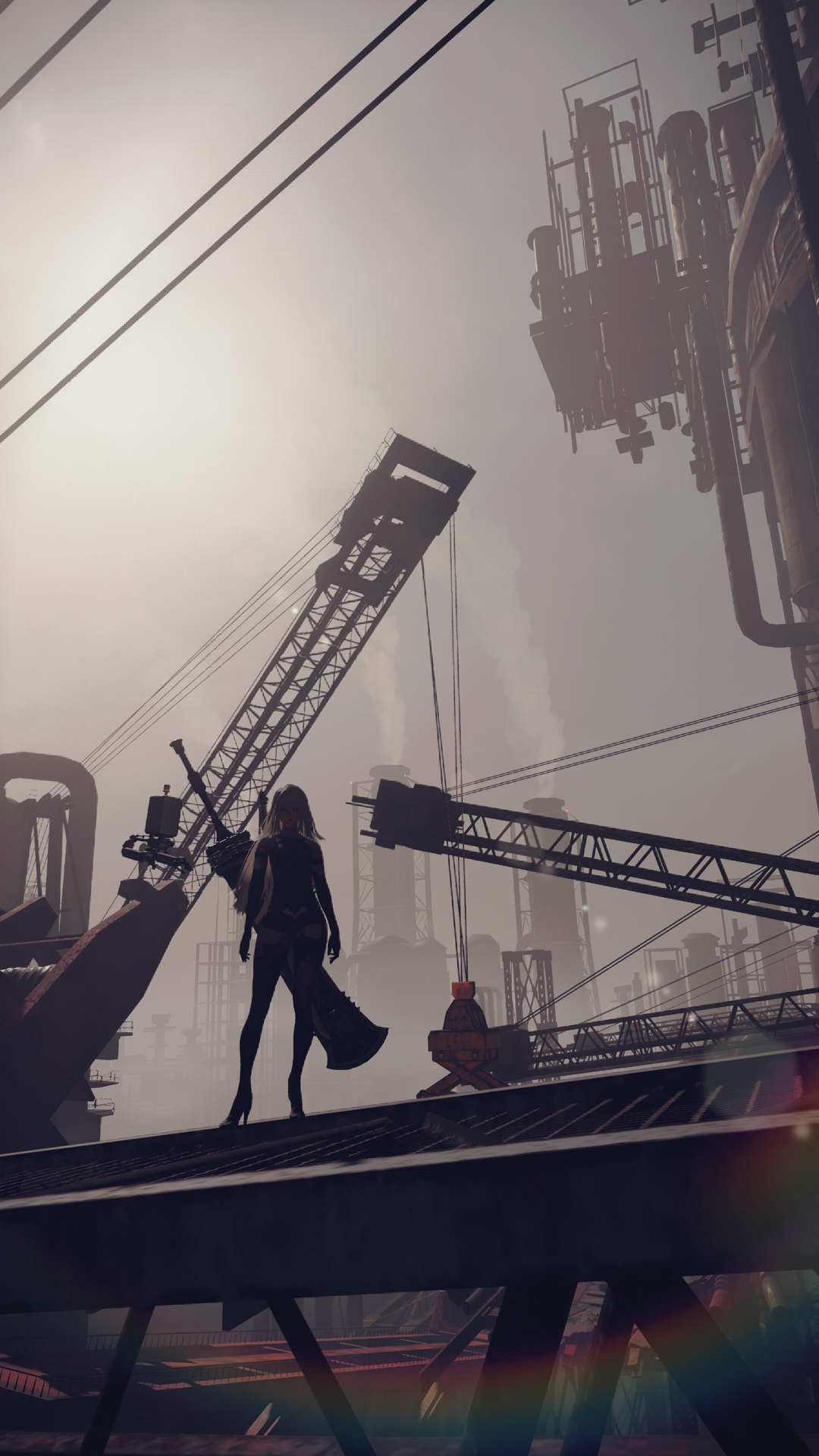 Fall Be Kind Wallpaper New Nier Automata Screenshots Introduce 9s And A2