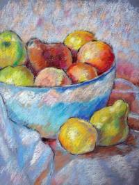 Bowl of fruit Drawing by Steven Nagy | Saatchi Art