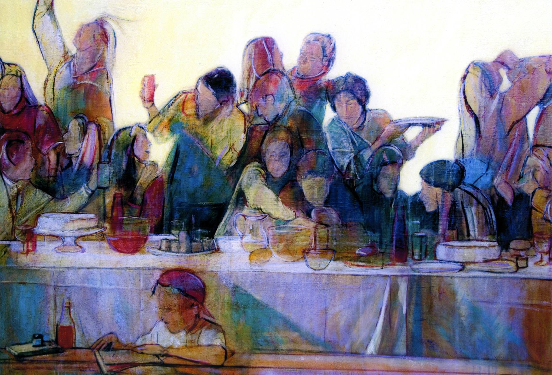 Saatchi Art Last Supper Painting By Philip Smeeton