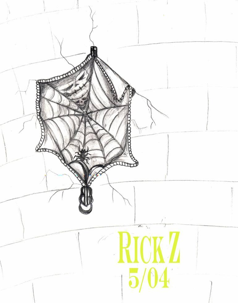 Saatchi Art: Spider web Zipper Drawing by Richard Ramirez