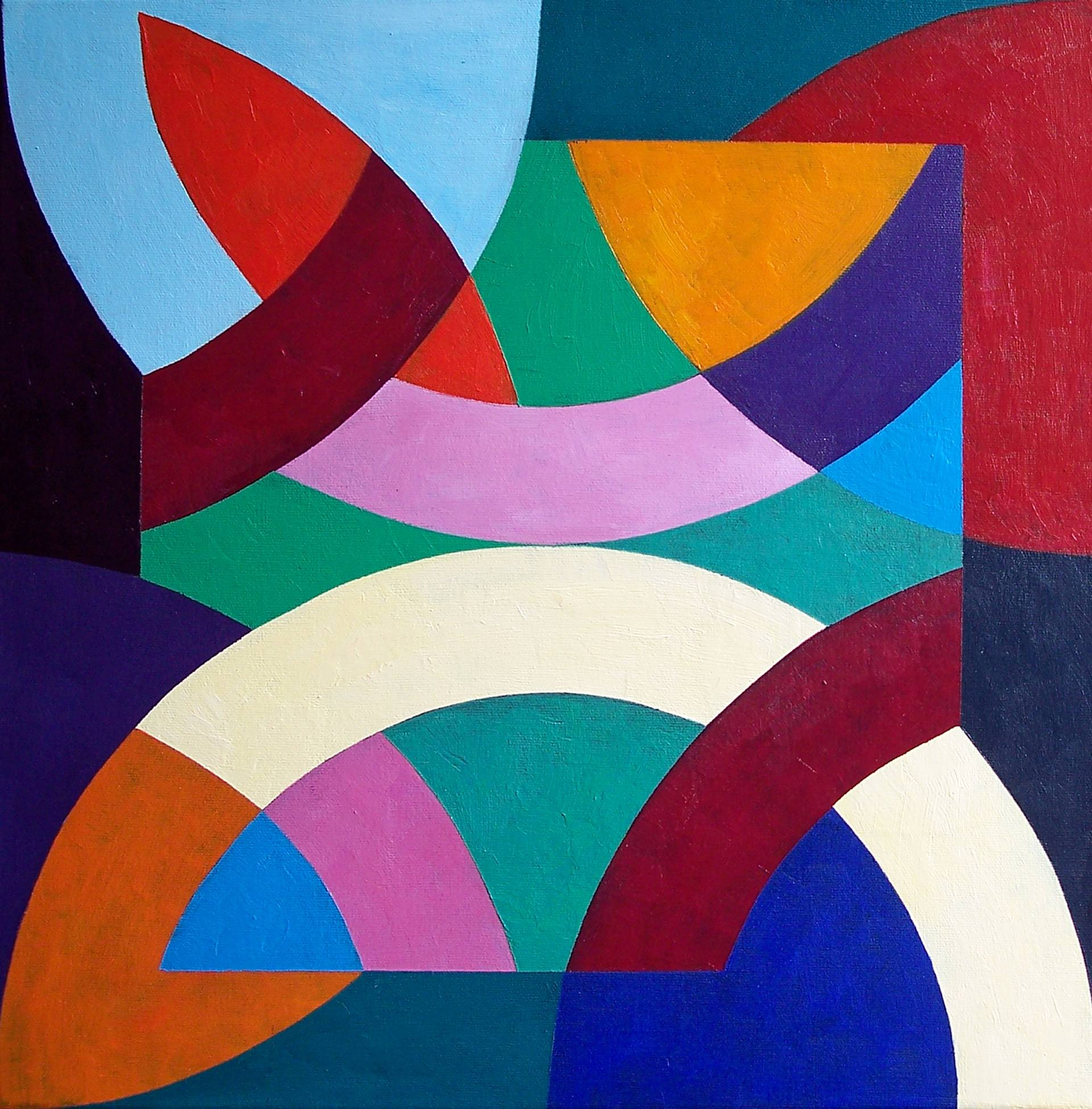 Abstract Of Geometric Shapes Painting By Stephen Conroy
