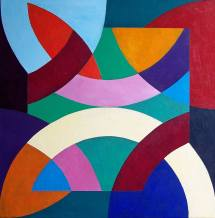 Abstract Of Geometric Shapes Painting Stephen Conroy