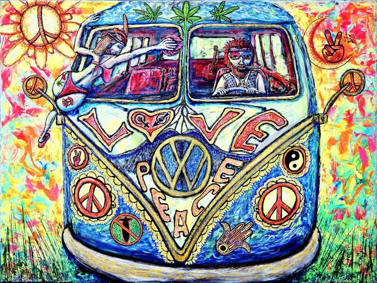 Saatchi Art: hippie Painting by Viktor Lazarev