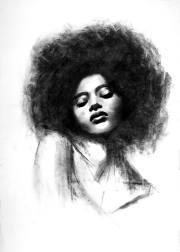 afro girl drawing denny stoekenbroek