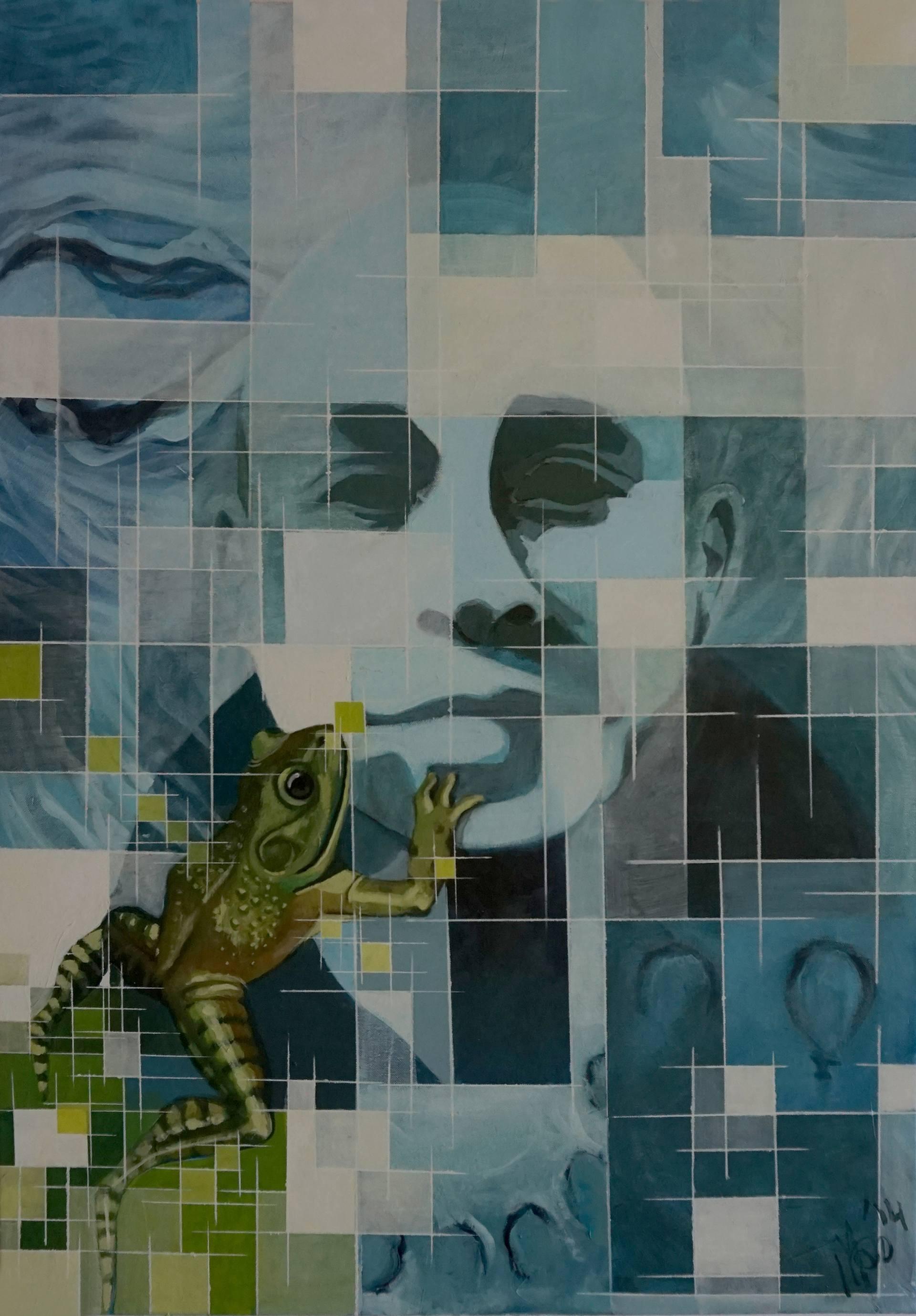 Risultati immagini per Human Nature 1.0 Painting, 39.4 H x 27.6 W x 0.6 in Marit Otto