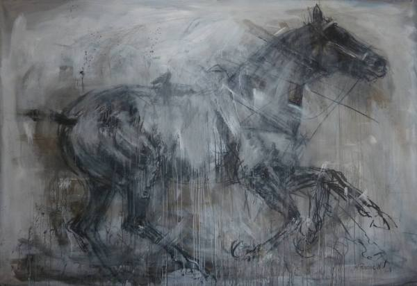 Horse Running 2 Drawing Mandy Racine Saatchi Art