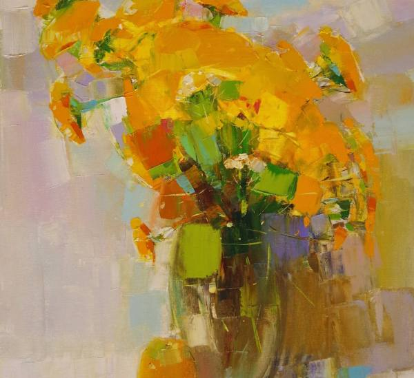 Saatchi Art Yellow Flowers Contemporary Palette
