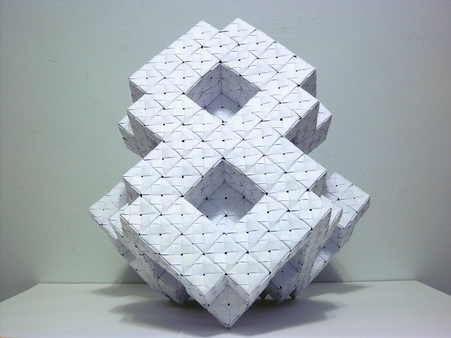 Saatchi Art 9x9 Cubic Grid In Origami Sculpture By Vance Houston