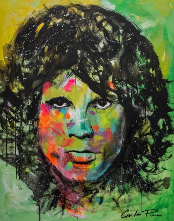 Famous Pop Art Celebrity - Jim Morrison Carlos Pun