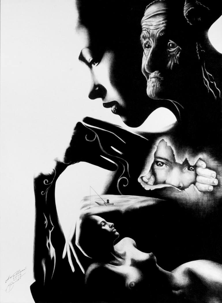 Risultati immagini per Woman Life Painting, 24.4 H x 18.5 W x 0.2 in TAMAZ AVALIANI