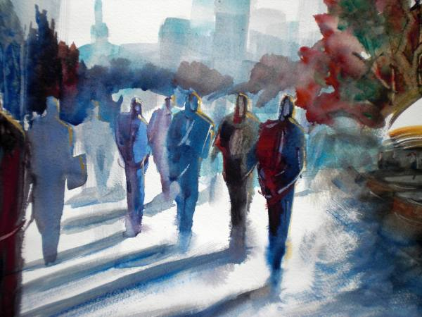 People Walking Painting