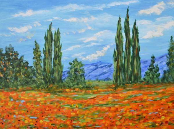 Meadow Impressionist Landscape Paintings
