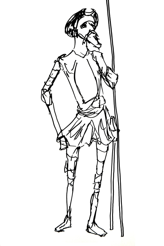 Saatchi Art: Don Quixote Drawing by Sarah Willis