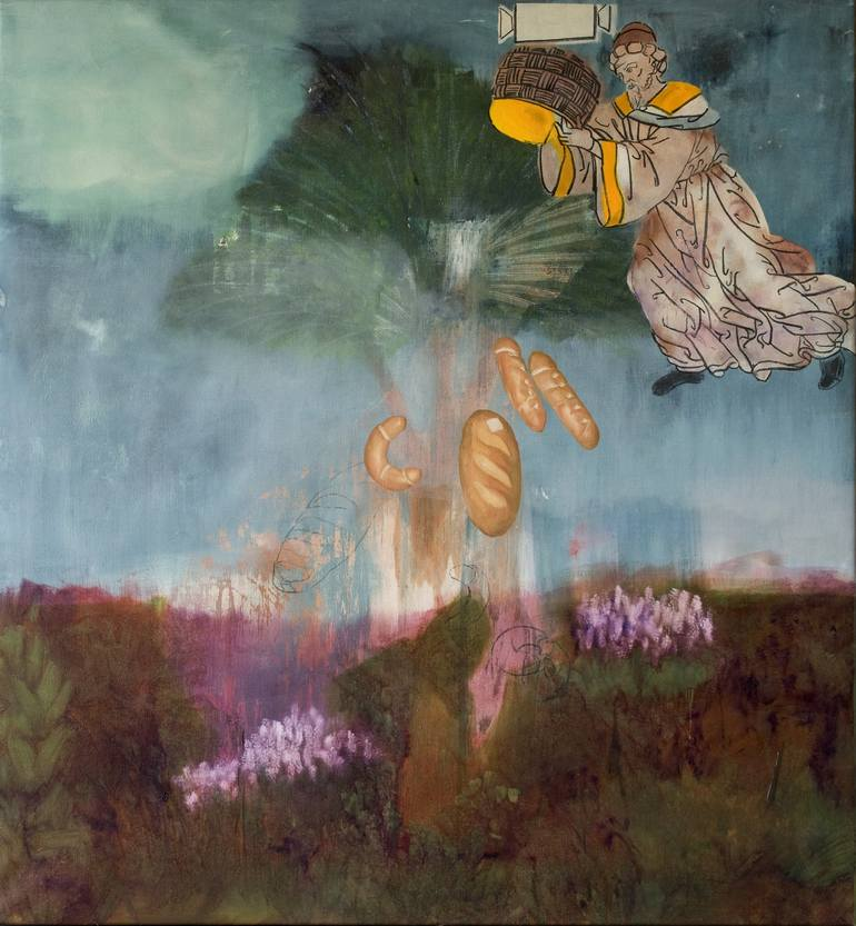 Risultati immagini per The Tree Of The Hungry Painting, 66.9 H x 61.8 W x 1.2 in Patricia Kaliczka