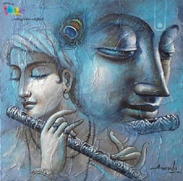 Krishna Painting Acrylic On Canvas
