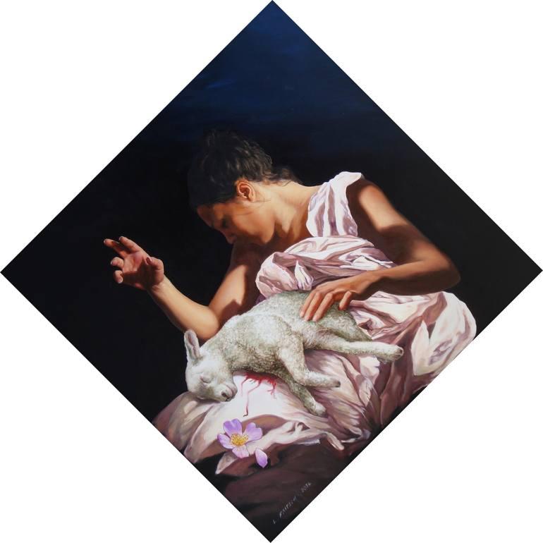 Risultati immagini per Pietà 2015-455 Painting, 24.4 H x 24.4 W x 0.4 in FRITSCH LOUISE