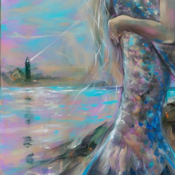 Saatchi Art Lighthouse Dusk Painting Linda Olsen
