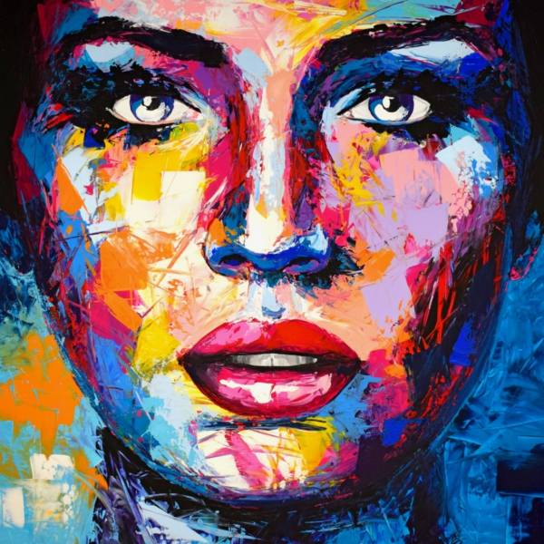 Original Abstract Art Paintings Faces
