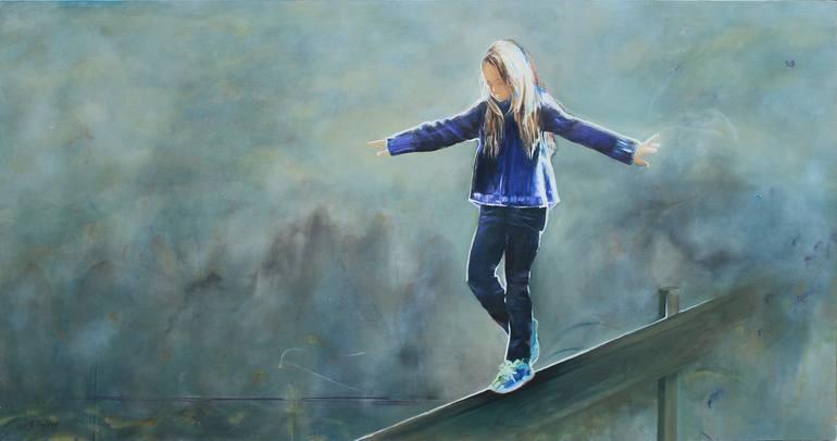 Risultati immagini per Equilibrio Painting, 39 H x 71 W x 1.5 in Carmen Luz Pino