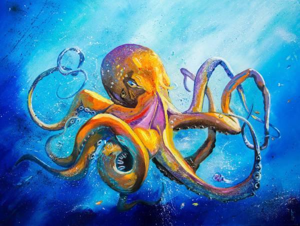 Octopus Painting Liubov Kuptsova Saatchi Art