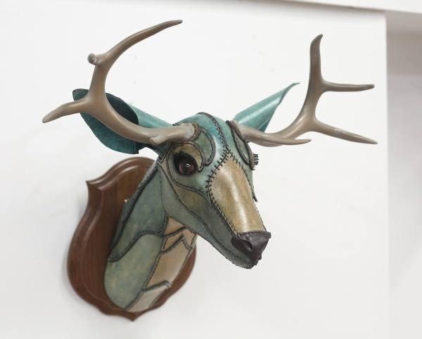 Deer Head Clay Sculpture