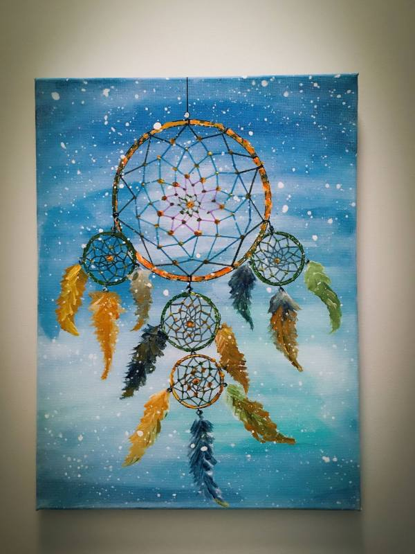 Dream Catcher Painting Hsin Lin Saatchi Art