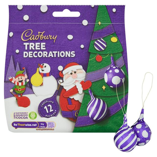 Cadbury Milk Chocolate Tree Decorations x9 83g   Sainsbury's