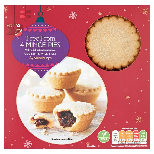 Sainsbury's Free From Mince Pies x4 230g