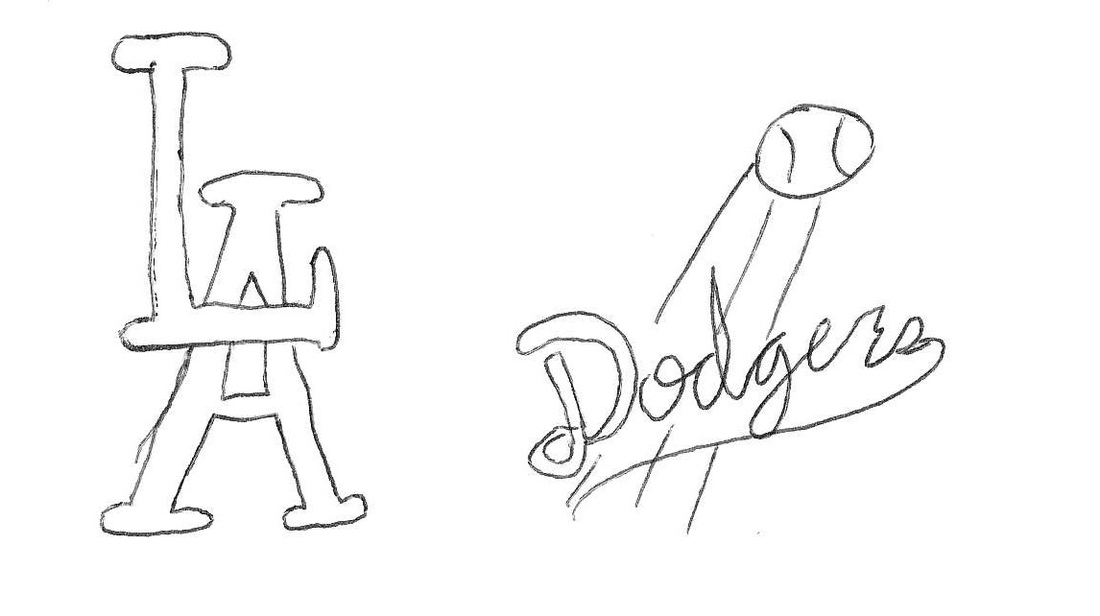 Draw a sports logo from memory: Los Angeles Dodgers