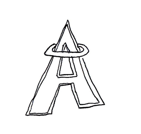 Draw a sports logo from memory: Los Angeles Angels