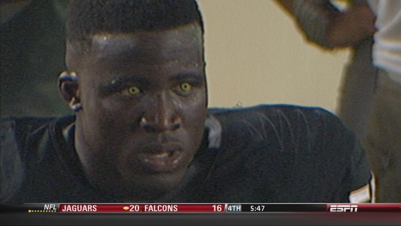 Black Player Football Eye