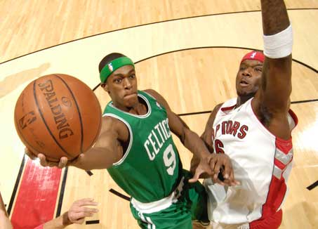Rondo being Rondo and quasi-posterizing Jermaine ONeal.