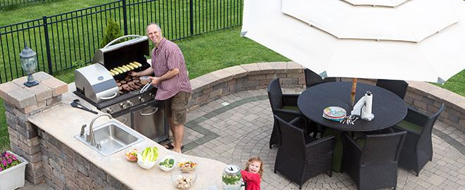 how to make an outdoor kitchen commercial stainless steel sink create at home