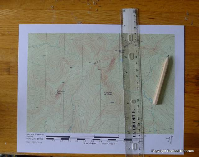 Draw vertical gridlines on your maps before your hike to make it easier to get true north compass bearings in the field