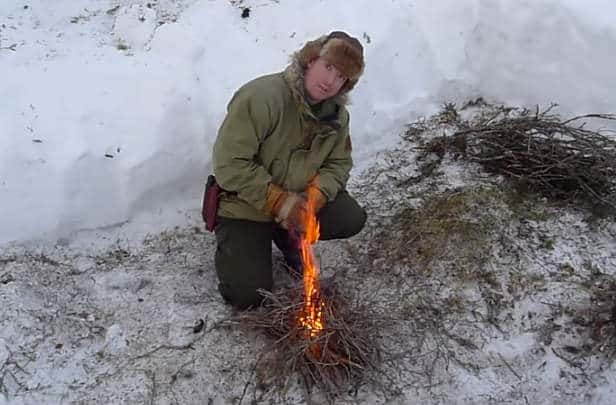 Winter Survival Fire Lighting Skills  Why Dont We Teach